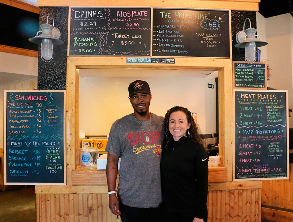 Winners BBQ owners De'Andre and Maegan Jackson
