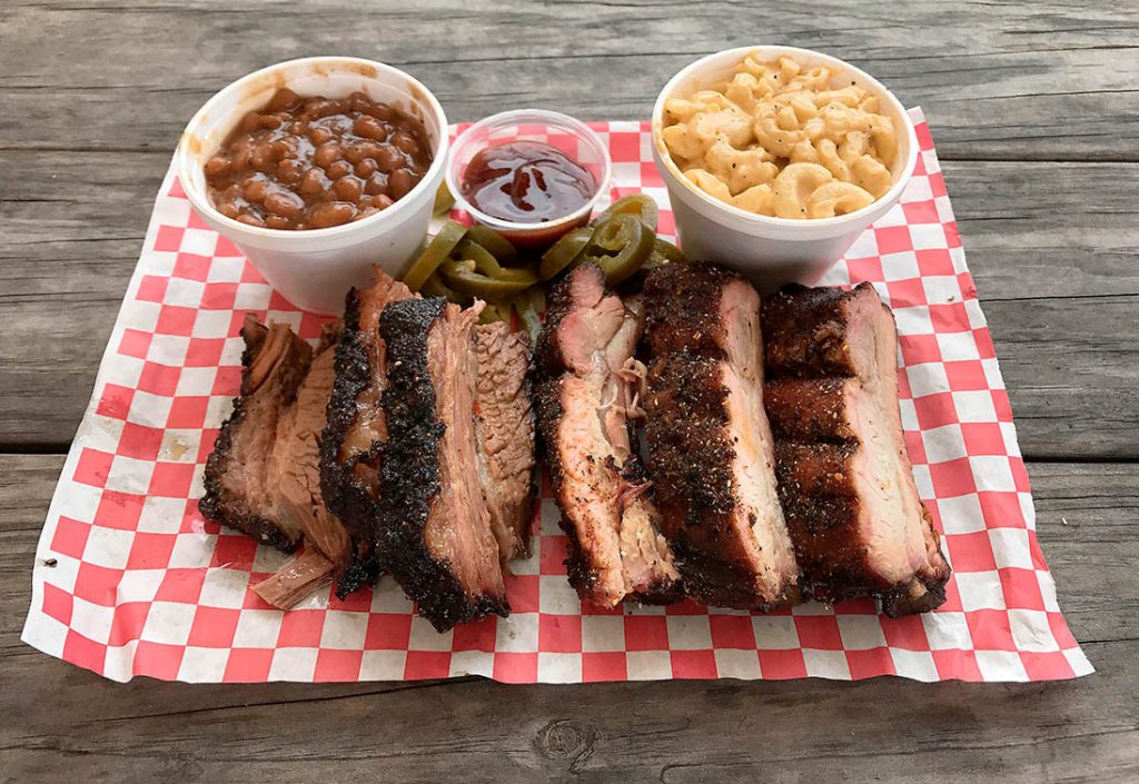 Two-meat plate Winners BBQ Plano