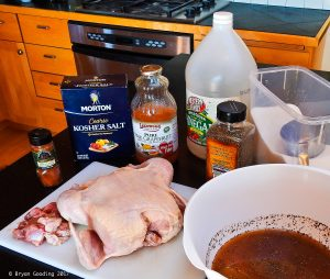 Photo of ingredients for smoked chicken