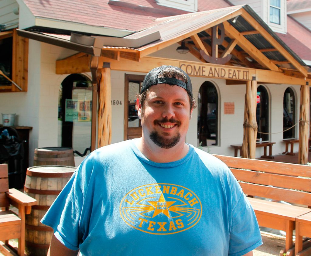 Grant Pinkerton, owner and pitmaster at Pinkerton's Barbecue in Houston