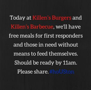 Facebook posting by Killen's Barbecue in Houston.