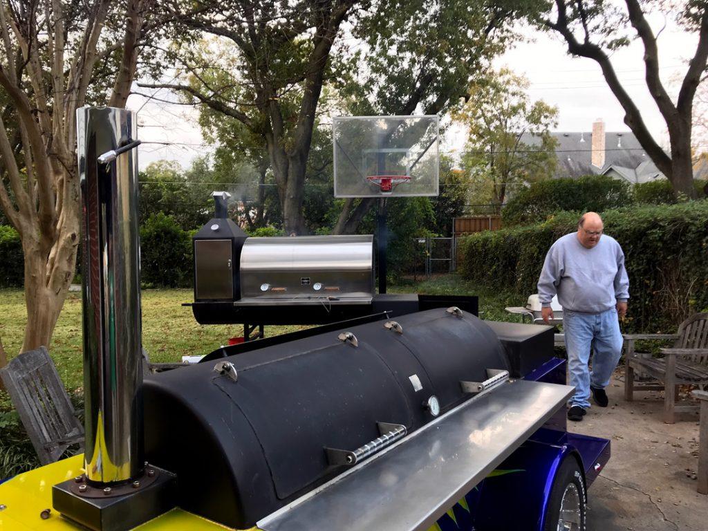 Backyard BBQ pits