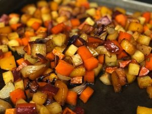 Roasted Sweet Potatoes & Squash