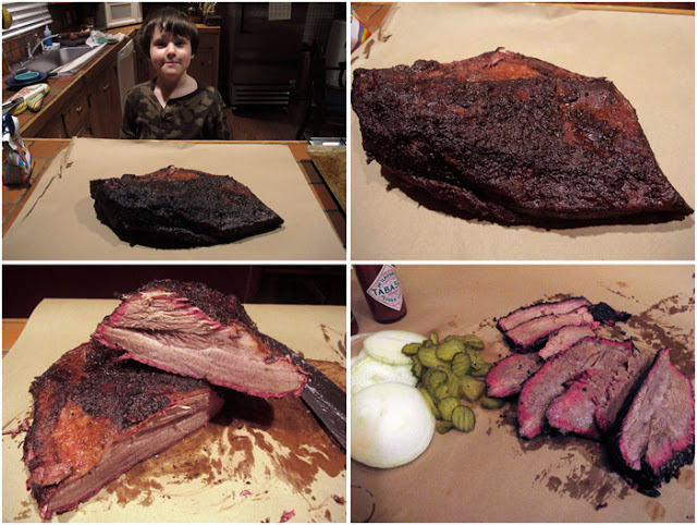 smoke brisket in your backyard picture