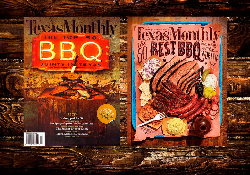 Texas Monthly Top 50 BBQ covers