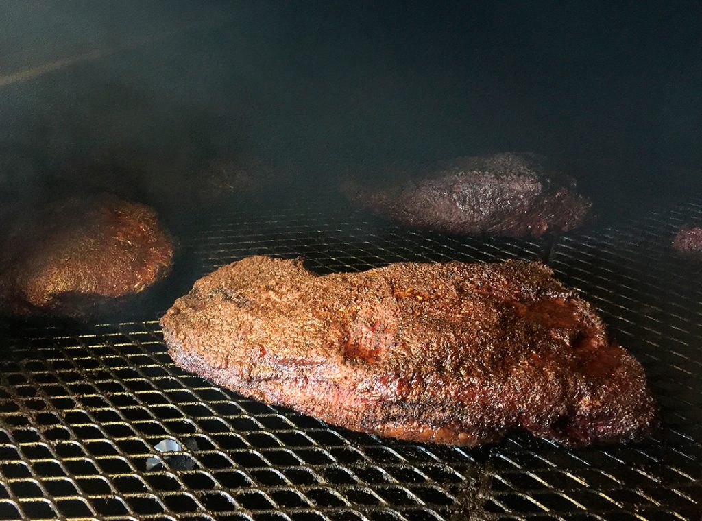 Photo of briskets at 2M Smokehouse