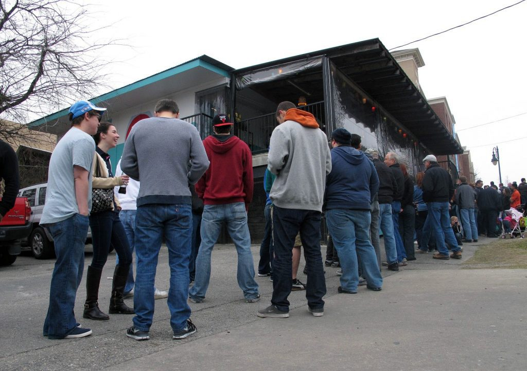 Photo of line at Franklin Barbecue