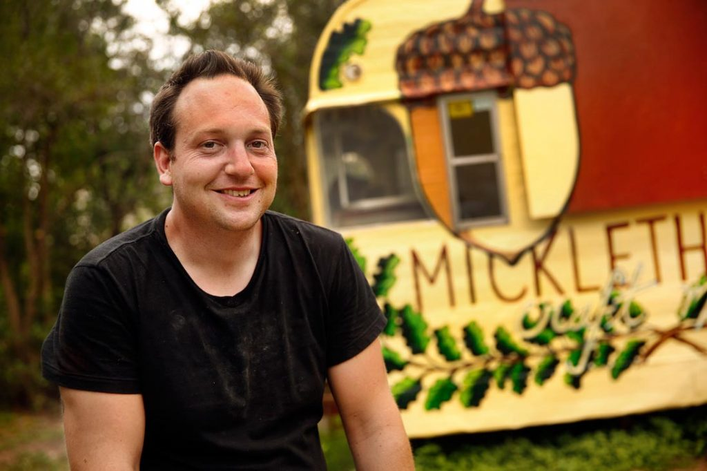 Photo of pitmaster Tom Micklethwait of Micklethwait Craft Meats