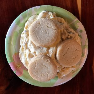 Photo of banana pudding at Opie's BBQ in Spicewood