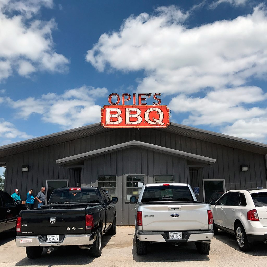 Photo of exterior of Opie's BBQ in Spicewood