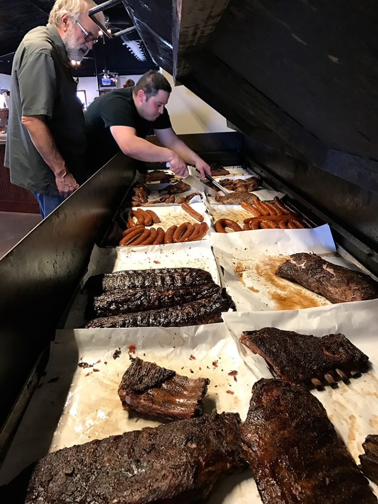 Photo of meats at Opie's BBQ in Spicewood