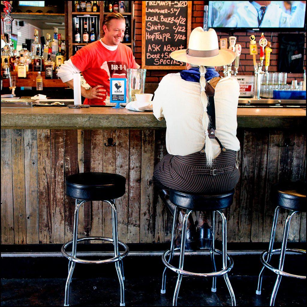 Photo of the bar at Lockhart Smokehouse in Dallas.