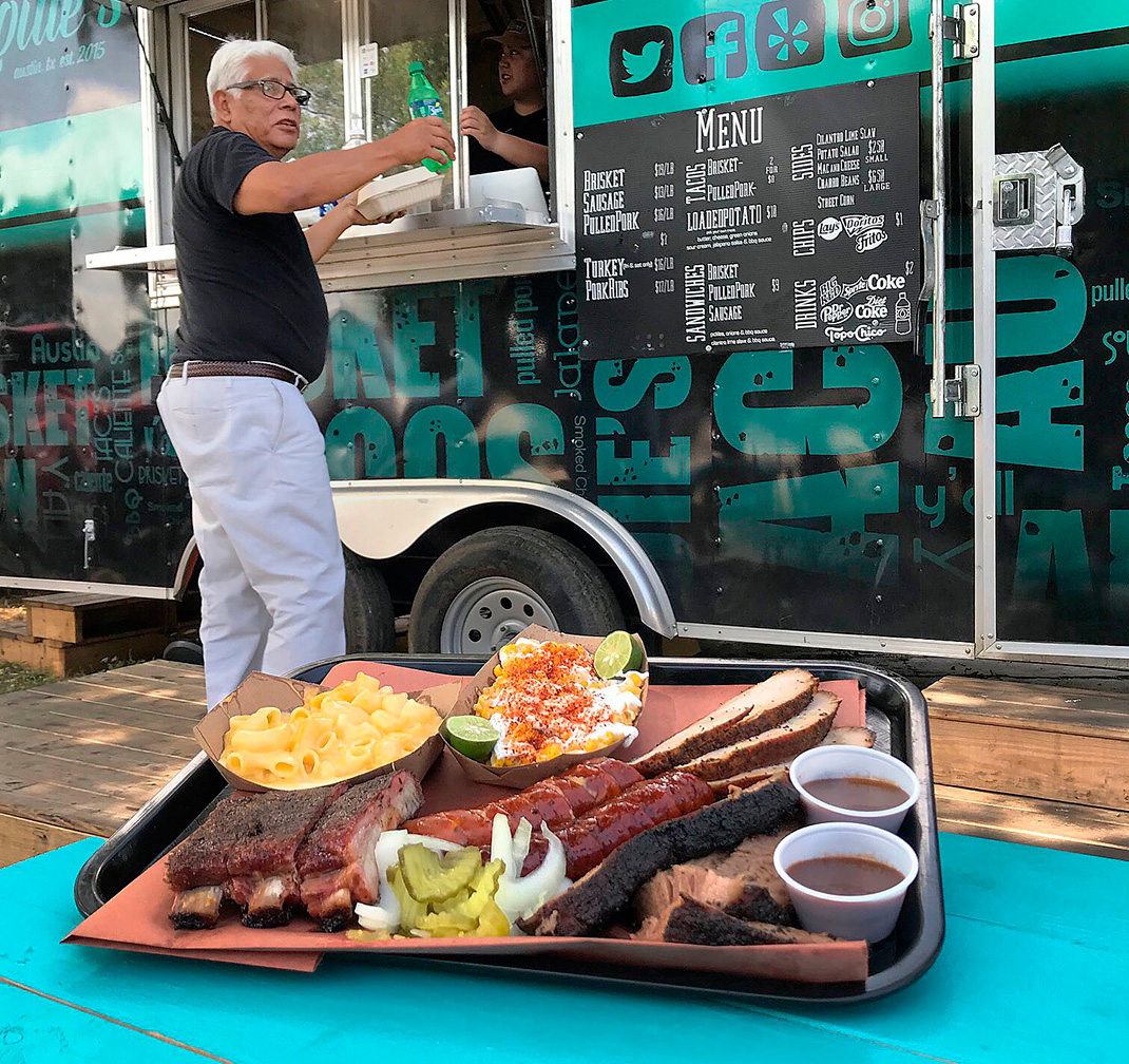 Louie's BBQ trailer
